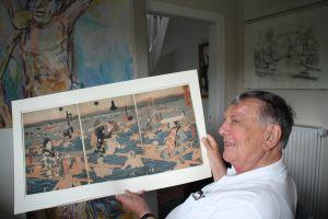 Der Sammler und Kunsthistoriker Prof. Dr. Heinz Spielmann in seinem Arbeitszimmer (Foto: Eik)